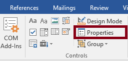 Property forms toolbar