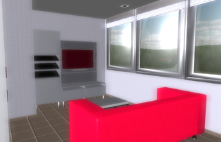 Virtual view of the living room of DAI Lab