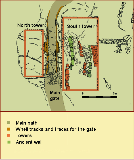 plan of the main gate