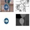 Utilisation of the information of colour to recognise a marker and the distance to which finds , by means of vision estéreo and technical of segmentation