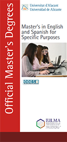 Master's degree in English and Spanish for specific purposes