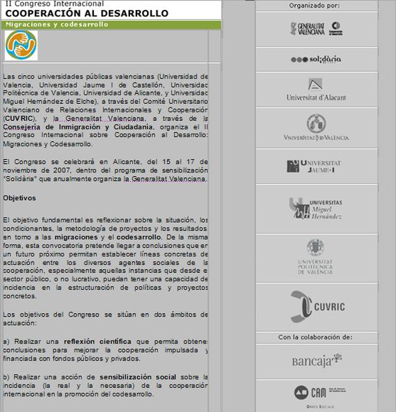 Cartel-folleto del II Congreso Internacional