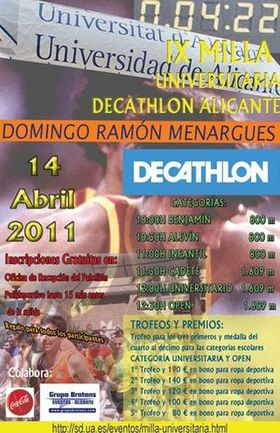 Cartel de la IX Milla Universitaria de Decathlon