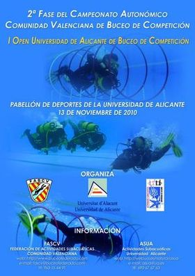 Poster of the 2ª phase of the Autonomic Championship of Diving of competition