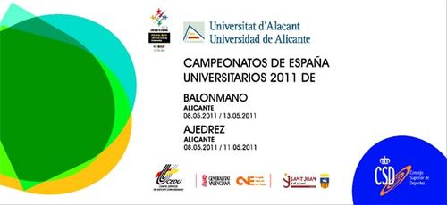 Poster of the Championship of University Spain of Handball and Chess