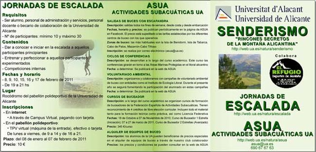 Obverse of brochure of Activities in the Nature