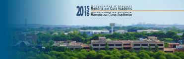 Report 2015-16. University of Alicante