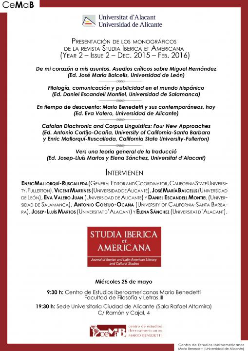 cartel revista Studia