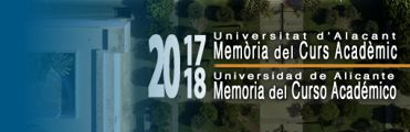 Memoria Universidad de Alicante 2017-18