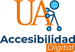 Logotipo accesibilidad digital universidad de alicante