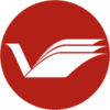 Library Virtual, logo inverted
