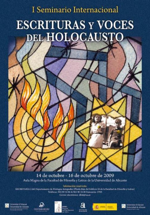 Cartel ESCRITURAS Y VOCES DEL HOLOCAUSTO