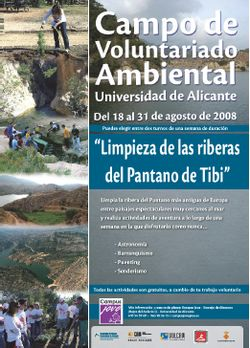 Cartel del voluntariado medioambiental