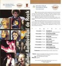 Folleto del Taller Audiovisual de Rock