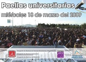 Cartel de las Paellas Universitarias