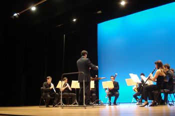 "Escena de la obra ""Winds Ensemble Instrumental"
