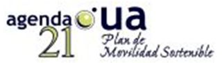 "Logotipo de Agenda 21 de la UA  ""Plan de movilidad sostenible"