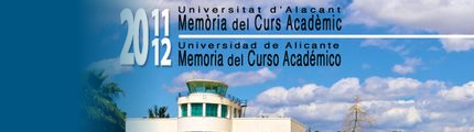 Memoria Universidad de Alicante 2011-12