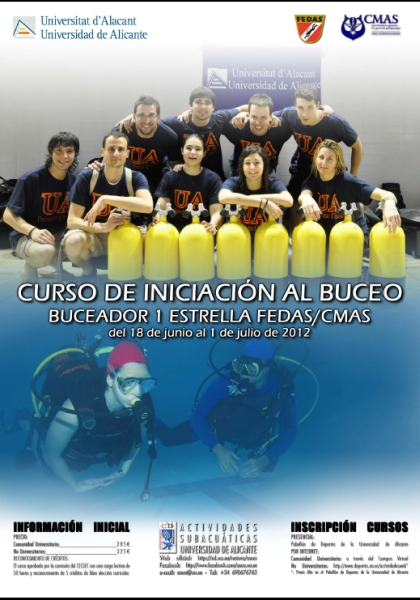 Cartel curso Buceo 1BE