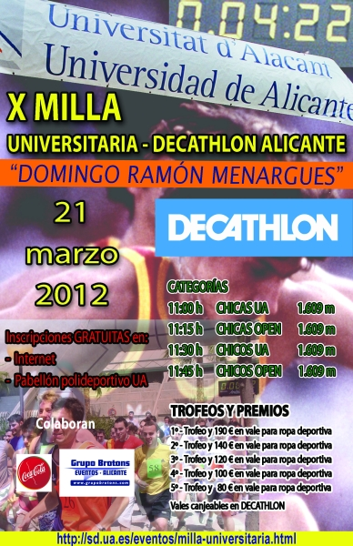 Cartel X Milla Universitaria
