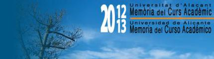 Memoria Universidad de Alicante 2012-13