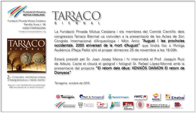 Cartel de Tarraco Biennal