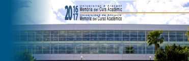 Memoria Universidad de Alicante 2016-17