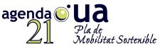 Logo del Plan de Movilidad Sostenible de la UA