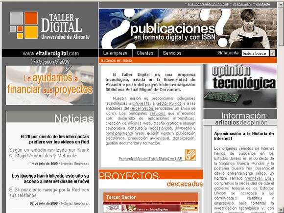 Web del Taller Digital