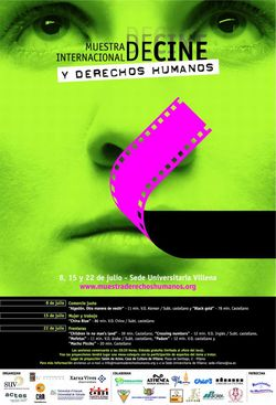 "Cartell de ""Mostra Internacional de Cinema i Drets Humans"