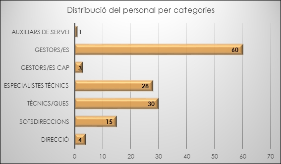Distribució del personal per categories