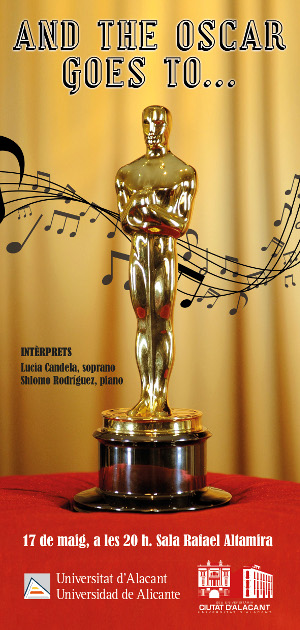 Cartell del concert And the Oscar goes to...