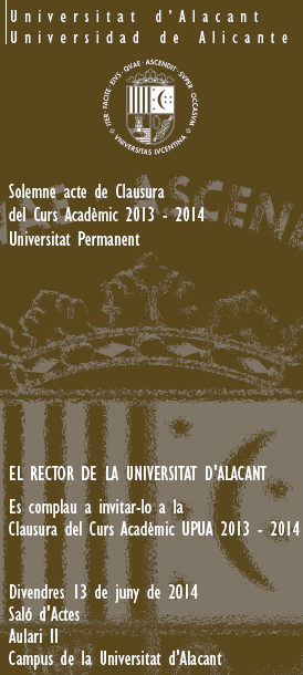 Folleto Acto de Clausura 2014