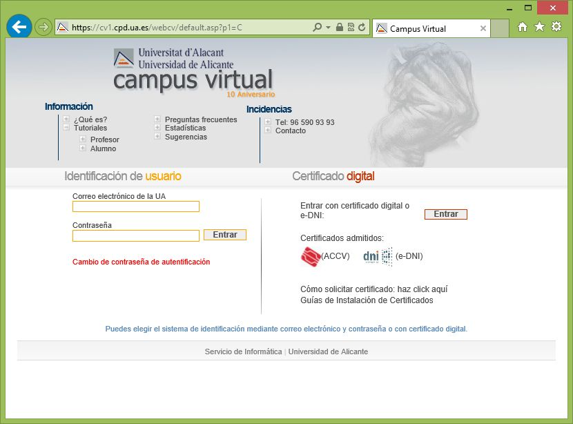 Campus Virtual Web